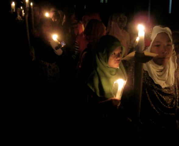 Young Indonesian Girl Celebrating Idul Adha