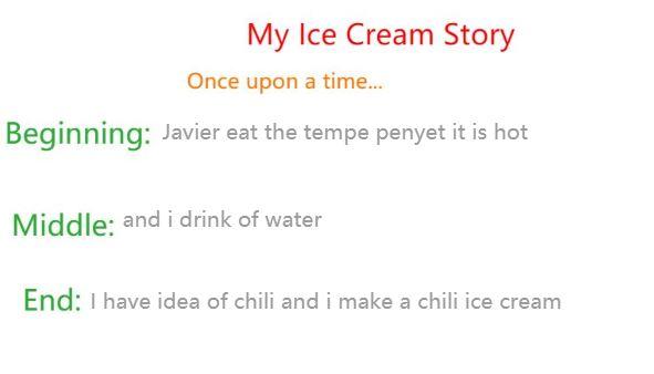 Javier ice cream story